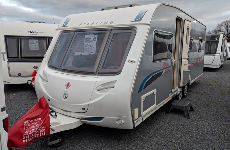 Touring Caravan for Sale: Sterling elite explorer island bed twin axle