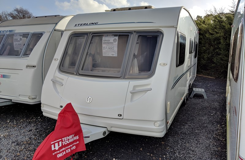 Touring Caravan for Sale: Used Sterling Europa 650 twin axle double dinette