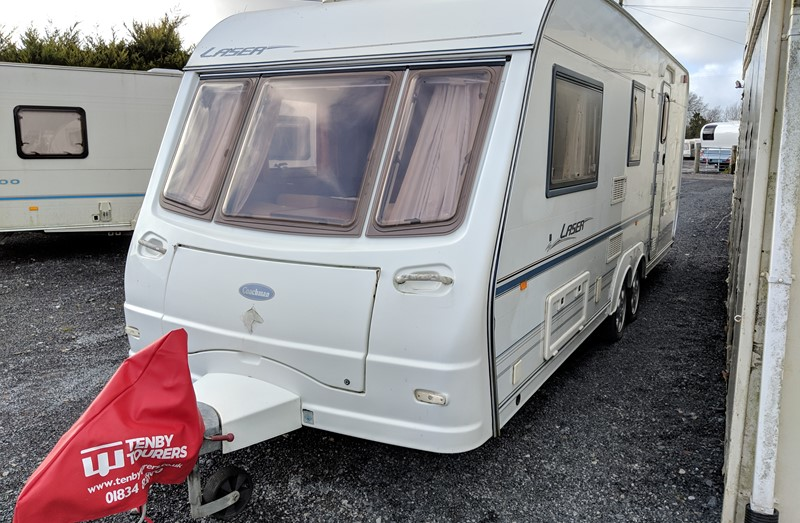 Touring Caravan for Sale: Coachman Laser 590/4 2002 twin axle side dinette