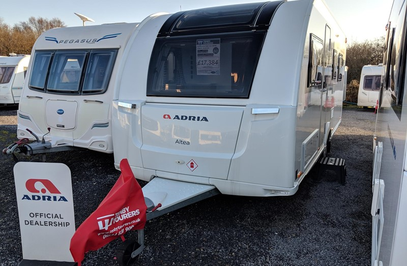 Touring Caravan for Sale: New 2019 Adria Altea 552UP Trent Island bed 4 Berth