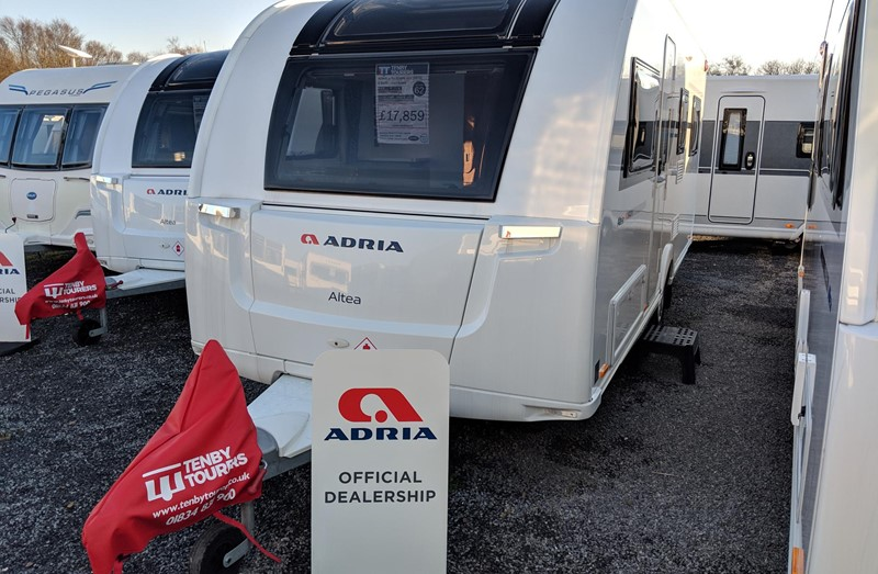 Touring Caravan for Sale: 2019 New Adria Altea 542DK Severn bunk beds 6 berth
