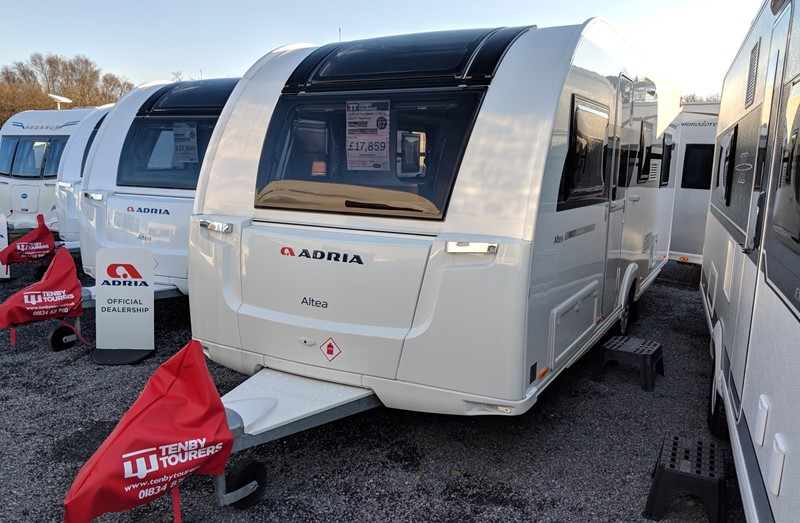 Touring Caravan for Sale: 2019 New Adria Altea 552DK Tamar 6 berth bunk beds