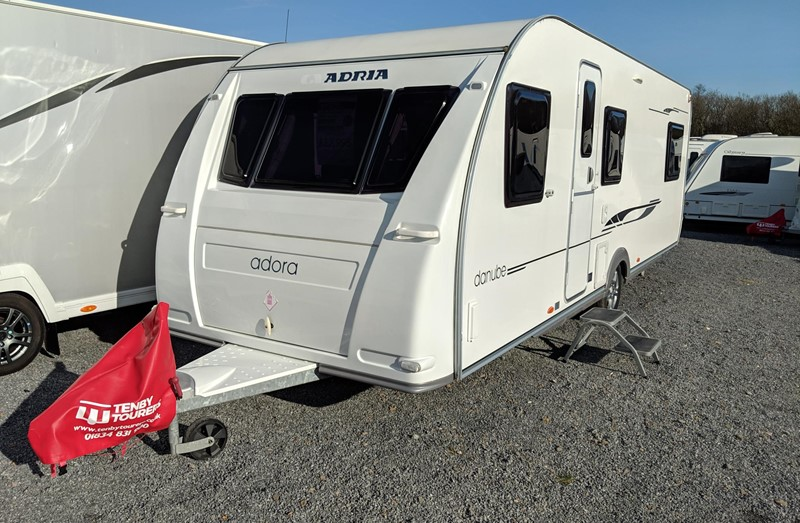 Touring Caravan for Sale: used Adria Adora 642UP Danube 4 berth single beds island bed