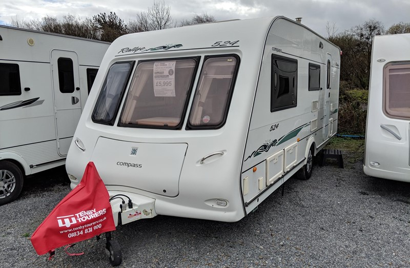 Touring Caravan for Sale: Compass Rallye 524 2006 4 berth used for sale