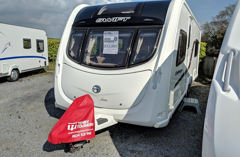 Touring Caravan for Sale: Swift Challenger 620 2011 used fixed bed twin axle 4 berth