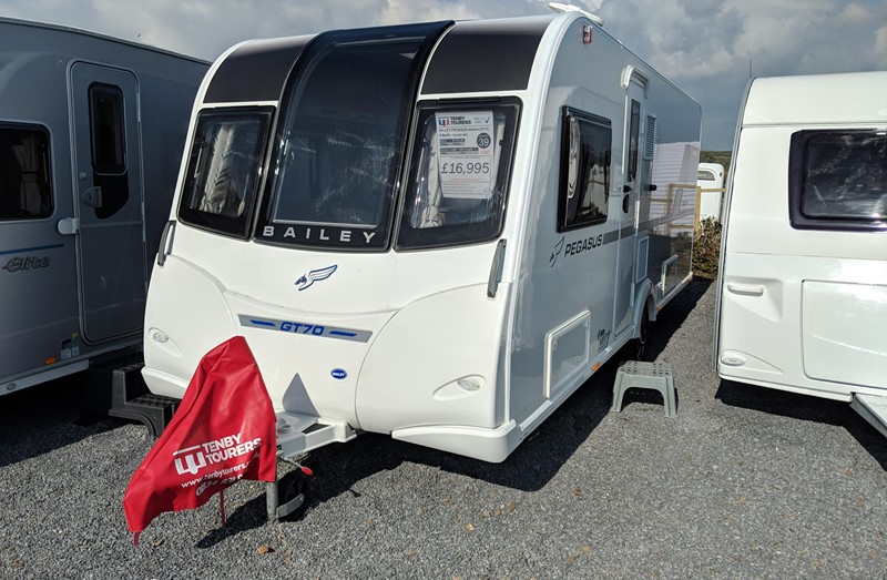 Touring Caravan for Sale: Bailey Pegasus GT70 Brindisi 2018 Island bed 4 berth