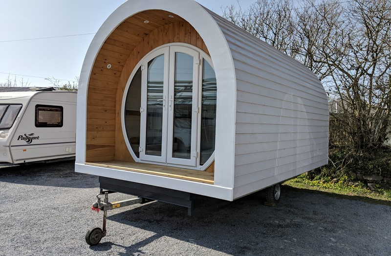 Touring Caravan for Sale: Timber Framed Hobbit Glamping Pod