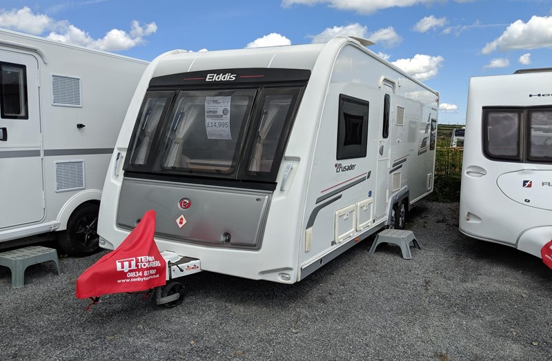 Touring Caravan for Sale: 10. Elddis Crusader Super Sirocco 2012 twin axle fixed bed 4 berth