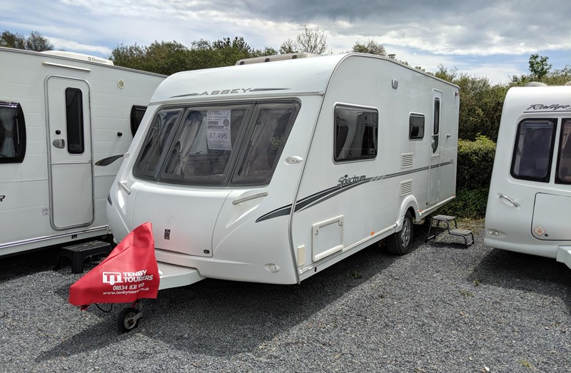 Touring Caravan for Sale: 20. Abbey Spectrum 416 2008 4 berth end washroom side dinette