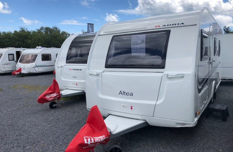 Touring Caravan for Sale: Adria Altea Tamar 2015 Fixed Bunk Beds