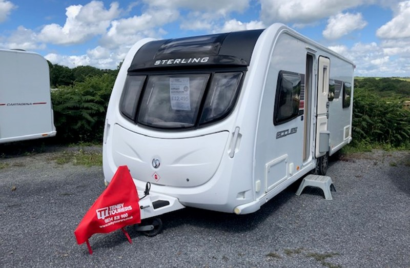 Touring Caravan for Sale: Sterling Eccles Amethyst Twin Axle 2011 fixed bed 6 berth
