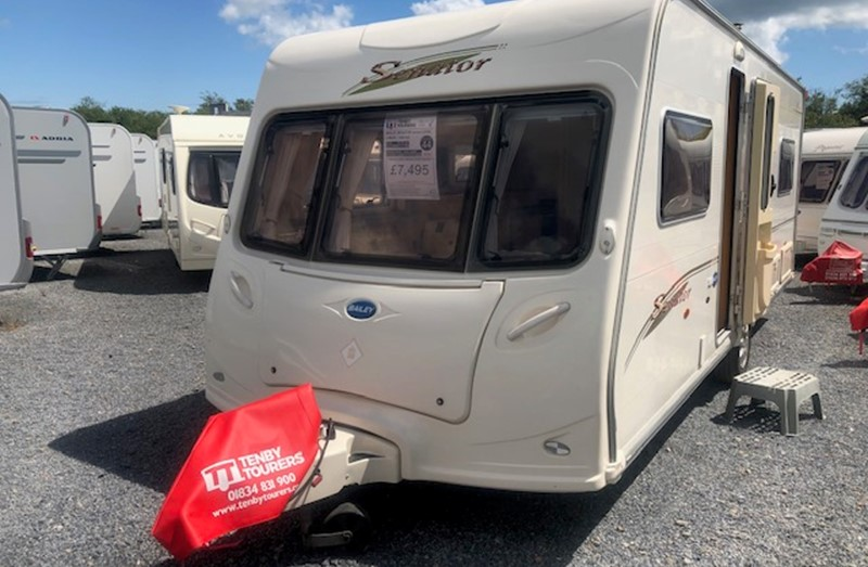 Touring Caravan for Sale: Bailey Senator Indiana Fixed Bed 2006