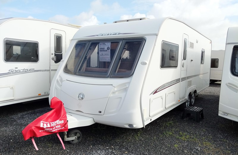Touring Caravan for Sale: Swift Conqueror 630SAL 2007 4 berth fixed bed twin axle