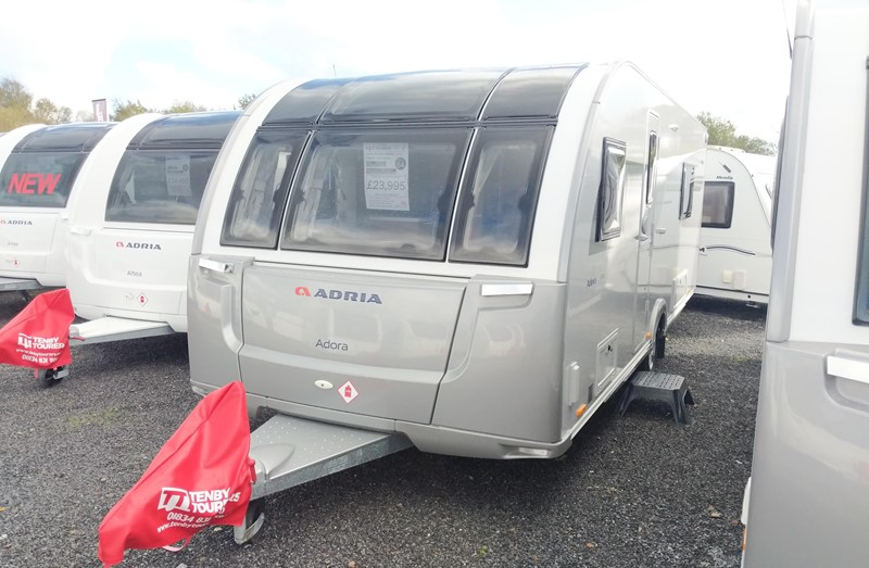 New Touring Caravan for Sale: Adria Adora 613UT Thames brand new 2020 fixed bed 4 berth