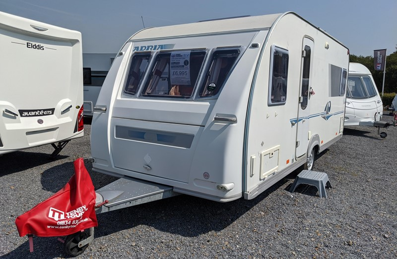 Touring Caravan for Sale: Adria Adiva 532UP 2005 Fixed bed 4 berth
