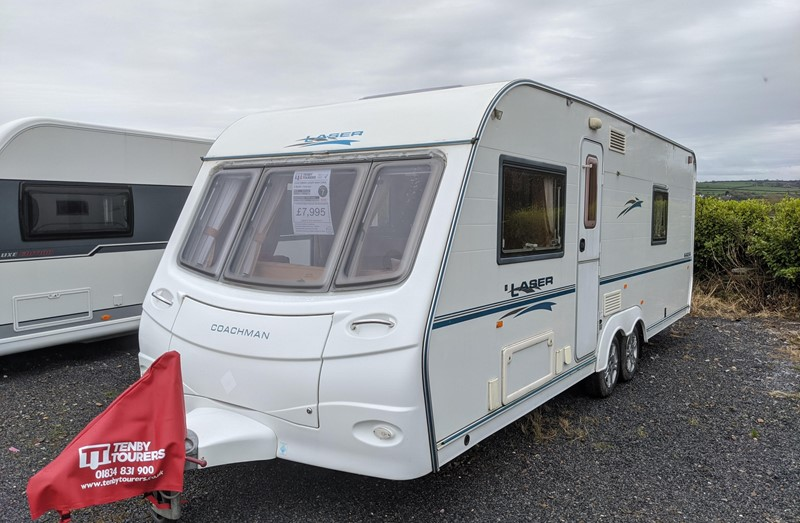 Touring Caravan for Sale: Coachman Laser 640/4 2006 4 Berth Fixed French Double Bed Twin Axle
