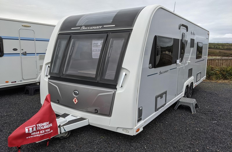 Touring Caravan for Sale: Elddis Buccaneer Schooner 2015 4 Berth Fixed Double Bed Twin Axle